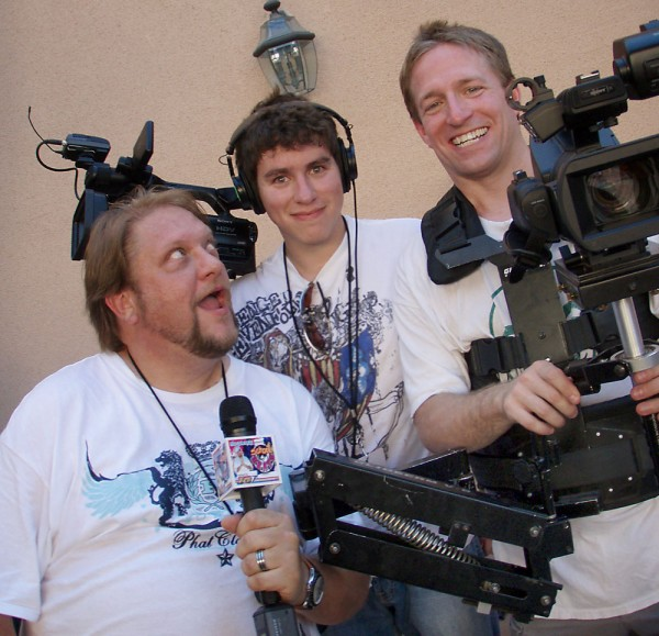Terry Reals, DP, hamming it up between sets with ops Matt Schiller & Anthony Burokas.