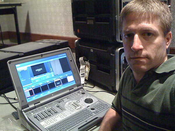 Anthony at the Anycast Station