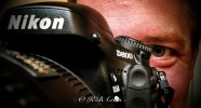 Anthony manhandles the Nikon D800.
